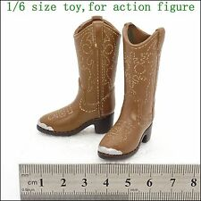 L18-17 1/6 scale figure Women's western cowboy exotic leather boots