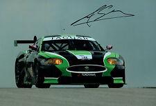 Marc GOOSSENS SIGNED 12x8 Photo AFTAL Autograph COA Jaguar Driver Sebring
