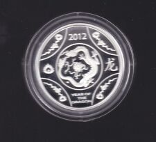 2012 $1 YEAR OF THE DRAGON LUNAR SERIES Silver Proof Coin Australia