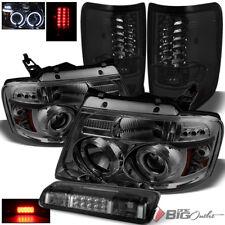 For 04-08 F150/Lobo Smoke Projector Headlights + LED Tail Lights + LED 3rd Brake