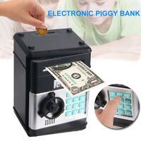 Electronic Piggy Bank ATM Password Money Box Cash Coins Saving Auto Deposit Gift