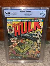 Incredible Hulk #180 CBCS 9.4 1974 1st Wolverine! Cameo! WP! Free CGC mylar! cm