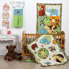 Zoo Zoo 8 Piece Reversible Crib Bedding Set Jungle Theme Nursery Bedding