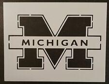"University of Michigan Wolverines M 11"" x 8.5"" Custom Stencil FAST FREE SHIPPING"