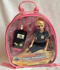 American Airlines Flight Attendant Doll w/ Luggage New Original Pkg Daron