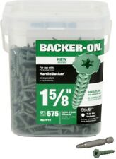 Backer-On #9 x 1-5/8-in Zinc-Plated Star-Drive Interior Cement Board Screws 575