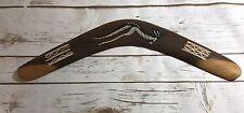 "Kippa Ring Boomerang Australian 16"" Aboriginal Art Hand Crafted Painted Ron Ton"