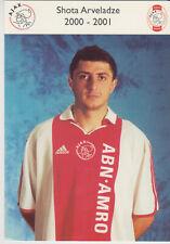 AUTOGRAMMKARTE / AUTOGRAPHCARD 2000-2001 Shota Arveladze Ajax Amsterdam
