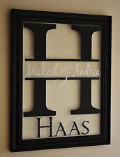 Personalized Family Name Picture Frame Sign 10x13