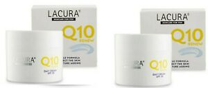 2 x Lacura Q10 Renew  Anti-Wrinkle Day Cream With SPF20 - 50ml