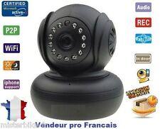 Camera Sans Fil Wireless WiFi IP IR Vision Nocturne Audio Webcam Design Noir