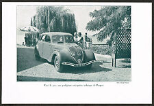 1930s Vintage 1935 Peugot 402 Classic Car Auto Automobile Photo Print