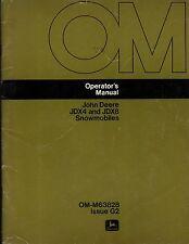 John Deere Snowmobile Jdx4 & Jdx8 Operators Manual Om-M63828