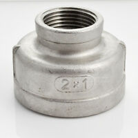 "2"" x 1"" Female Nipple SS 304 Stainless Reducer Pipe Fitting NPT Threads Megairon"