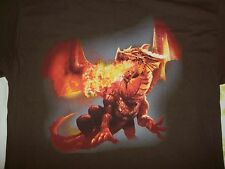 Fire Breathing Stormreach Dungeons & Dragons Online Large Hanes BEEFY-T T-Shirt