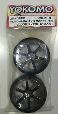 Yokomo ZR-DR22 Yokohama AVS Model-T6 6-Spoke Drift Wheels & Tyres (1 Pair) NIP
