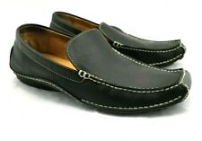 Franco Fortini Max Men's US 11D Black Slip-on Loafer Casual Shoes Stitched