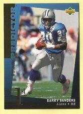 1994 Upper Deck Football Barry Sanders Rushing Predictor League Leaders Winner