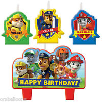 PAW PATROL CANDLE SET OF 4 BIRTHDAY PARTY SUPPLIES CAKE TOPPER