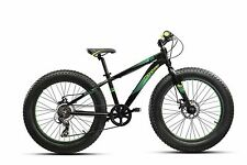 Bici Montana FAT BIKE 24″ TY-300 6V REVO DISC Nero/Verde MTB Mountain Bike