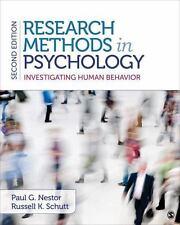Research Methods in Psychology : Investigating Human Behavior by Paul G. Nestor…