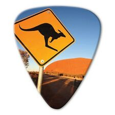 5 X Grover Allman World Scenic Australia - Kangaroo Road Sign Guitar Picks