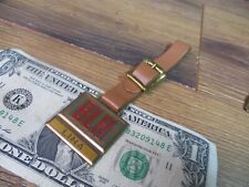 Vintage BLH LIMA Brass Pocket Watch Fob w/Strap Road Construction