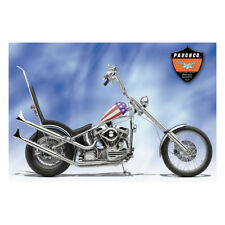 """Paughco Exhaust Silencer Fishtail 28 """" with Support Rail Chrome, for Harley -"""