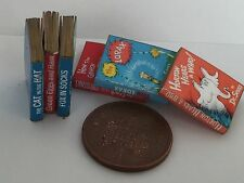 DOLLS HOUSE MINIATURE BOOKS - 1:12th Scale Dr Seuss Stories collection of 6