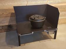 Dutch Oven Tisch Kochstelle Stahl Edelstahl Feuertopf Guss Thermolack Aschehälte