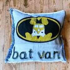 Batman Cushion Cover, Handmade Denim VW Camper Van T1 T2 Batman Inspired, Batvan