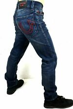 TRUE RELIGION MANCHESTER UNITED MENS GENO RELAXED SLIM JEANS 102258 34 W X 32 L