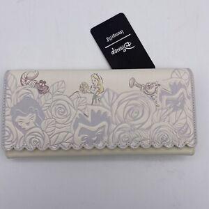 Loungefly Disney Wallet Alice in Wonderland Floral Scallop Edged Clutch