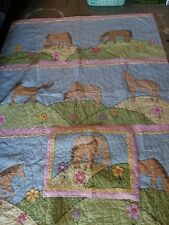 """The Company Store Kids """"Ponies"""" Twin Quilt & 1 Standard Quilted Sham"""