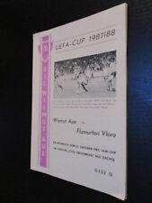 DDR Fußball Programm 01 BSG Wismut Aue - Flamurfari Vlora 1987 EC
