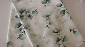 Baumwolljersey Swafing 50 x 150 cm Eukalyptus auf weiß
