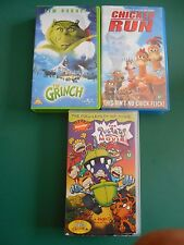 CHICKEN RUN,  THE GRINCH & THE RUGRATS MOVIE VHS VIDEOS