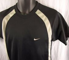 Nike Sportswear Athletic T-Shirt S Black Small Shirt Silver Tag Quick Dry