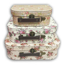 Vintage Roses Floral Storage Suitcases Cases Gift Boxes Home Living Box Flower