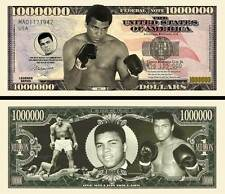 Muhammad Ali Million Dollar Bill Collectible Fake Play Funny Money Novelty Note