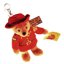 "Stuffed Animal House 4.5"" Mini Paddington Bear RCMP GRC Keychain Zipper Pull NWT"