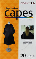 """Disposable Capes by Product Club. Box of 20. 45"""" x 54""""."""