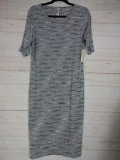 Lularoe Women's Julia Dress Gray with White Streaks Size L NWT - A2542