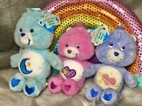 NWT Care Bear Special Edition Fluffy Lil Bear Lot Daydream Bedtime Take Care