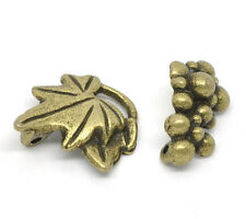 Antique Bronze Grape Charm Toggle Clasps 17x15mm 16x10mm, 10 sets SP0610