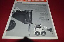 Bobcat Skid Loader Ram Hammer Attachment For 1974 Dealers Brochure DCPA2