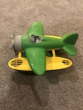 Green Toys Airplane Plane Green Yellow Floats on water. EUC
