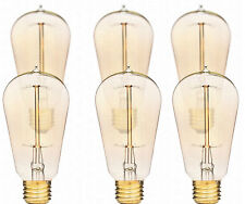 Deneve 6-Pack Edison 40w Antique ST58 Squirrel Cage Filament Lights Bulb Lamp