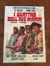 manifesto,2F,C,,1968,WESTERN,I quattro dell'Ave Maria,BUD SPENCER,TERENCE HILL,