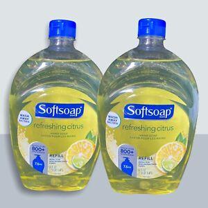 2 Softsoap Citrus Liquid Hand Soap Refills 50oz Shipping Included